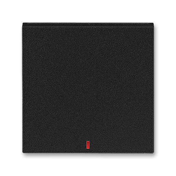 Kryt spínača kolískového s červeným priezorom, Levit®M, onyx / dymová čierna