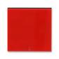 Kryt spínača kolískového s červeným priezorom, Levit®, červená / dymová čierna