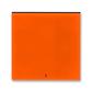 Kryt spínača kolískového s červeným priezorom, Levit®, oranžová / dymová čierna