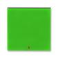 Kryt spínača kolískového s červeným priezorom, Levit®, zelená / dymová čierna