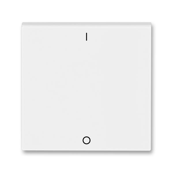 Kryt spínača kolískového s potlačou, Levit®, biela / ľadová biela