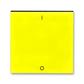 Kryt spínača kolískového s potlačou, Levit®, žltá / dymová čierna