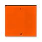 Kryt spínača kolískového s potlačou, Levit®, oranžová / dymová čierna