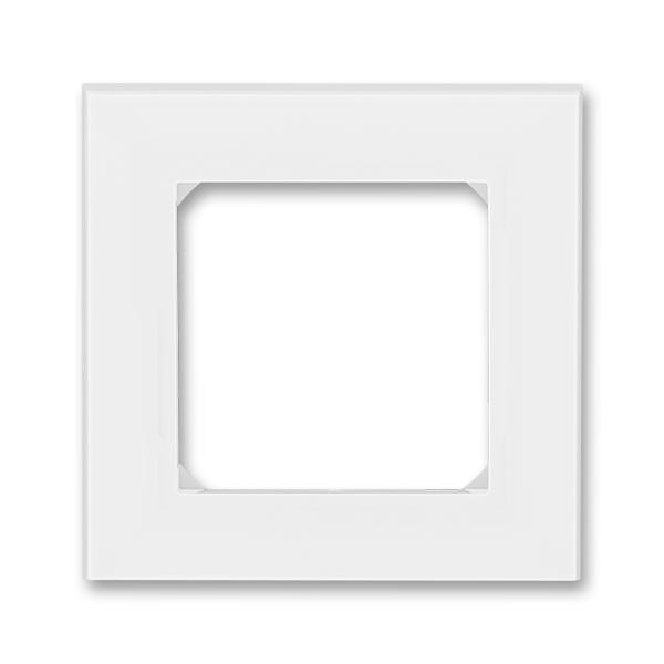 Rámček pre elektroinstalačné prístroje, jedno násobný, Levit®, biela / ľadová biela
