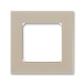Rámček pre elektroinstalačné prístroje, jedno násobný, Levit®, macchiato / biela