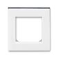 Rámček pre elektroinstalačné prístroje, jedno násobný, Levit®, biela / dymová čierna