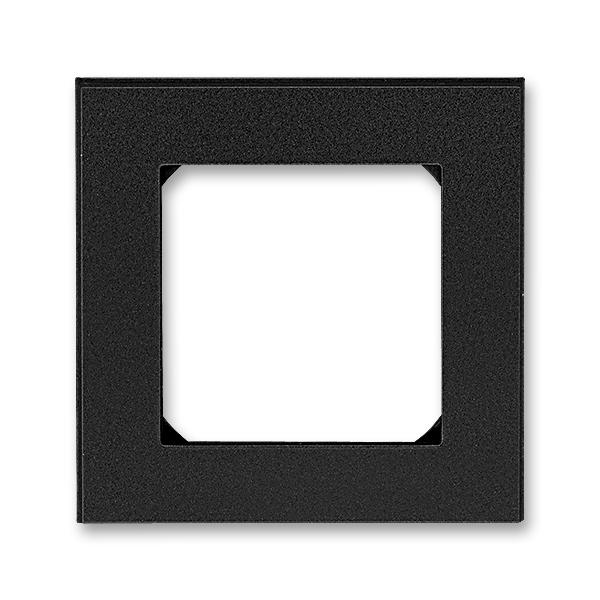 Rámček pre elektroinstalačné prístroje, jedno násobný, Levit®M, onyx / dymová čierna