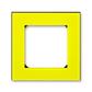 Rámček pre elektroinstalačné prístroje, jedno násobný, Levit®, žltá / dymová čierna