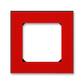 Rámček pre elektroinstalačné prístroje, jedno násobný, Levit®, červená / dymová čierna