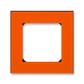 Rámček pre elektroinstalačné prístroje, jedno násobný, Levit®, oranžová / dymová čierna