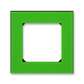 Rámček pre elektroinstalačné prístroje, jedno násobný, Levit®, zelená / dymová čierna