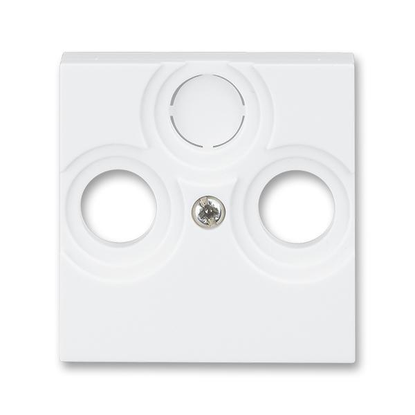 Kryt zásuvky anténnej, s vylamovacím otvorom, Levit®, biela