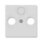 Kryt zásuvky anténnej, s vylamovacím otvorom, Levit®, šedá
