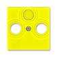 Kryt zásuvky anténnej, s vylamovacím otvorom, Levit®, žltá