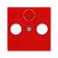 Kryt zásuvky anténnej, s vylamovacím otvorom, Levit®, červená