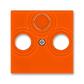 Kryt zásuvky anténnej, s vylamovacím otvorom, Levit®, oranžová