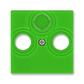 Kryt zásuvky anténnej, s vylamovacím otvorom, Levit®, zelená