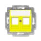 Kryt zásuvky komunikačnej, Levit®, žltá