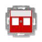 Kryt zásuvky komunikačnej, Levit®, červená