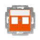 Kryt zásuvky komunikačnej, Levit®, oranžová
