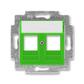 Kryt zásuvky komunikačnej, Levit®, zelená