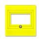 Kryt zásuvky komunikačnej priamej, Levit®, žltá