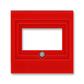 Kryt zásuvky komunikačnej priamej, Levit®, červená
