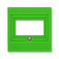 Kryt zásuvky komunikačnej priamej, Levit®, zelená