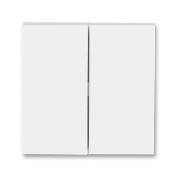 Kryt spínača kolískového delený, Levit®, biela / ľadová biela