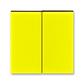 Kryt spínača kolískového delený, Levit®, žltá / dymová čierna