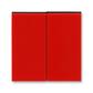 Kryt spínača kolískového delený, Levit®, červená / dymová čierna
