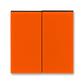 Kryt spínača kolískového delený, Levit®, oranžová / dymová čierna