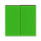 Kryt spínača kolískového delený, Levit®, zelená / dymová čierna