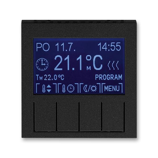 Termostat univerzálny programovateľný (ovládacia jednotka), Levit®M, onyx / dymová čierna