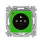 Zásuvka jednonásobná s ochranným kolíkom, s clonkami, s ochranou pred prepätím, Levit®, zelená / dymová čierna