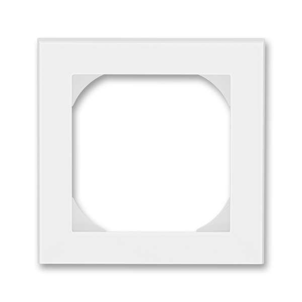 Rámček jednonásobný s otvorom 55×55 mm, Levit®, biela / ľadová biela