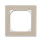 Rámček jednonásobný s otvorom 55×55 mm, Levit®, macchiato / biela