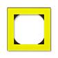 Rámček jednonásobný s otvorom 55×55 mm, Levit®, žltá / dymová čierna