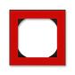 Rámček jednonásobný s otvorom 55×55 mm, Levit®, červená / dymová čierna