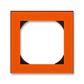 Rámček jednonásobný s otvorom 55×55 mm, Levit®, oranžová / dymová čierna