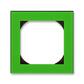 Rámček jednonásobný s otvorom 55×55 mm, Levit®, zelená / dymová čierna