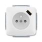 Zásuvka jednonásobná s ochranným kolíkom, s clonkami, s USB nabíjaním, Tango®, biela