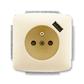Zásuvka jednonásobná s ochranným kolíkom, s clonkami, s USB nabíjaním, Tango®, slonová kosť