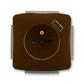 Zásuvka jednonásobná s ochranným kolíkom, s clonkami, s USB nabíjaním, Tango®, hnedá
