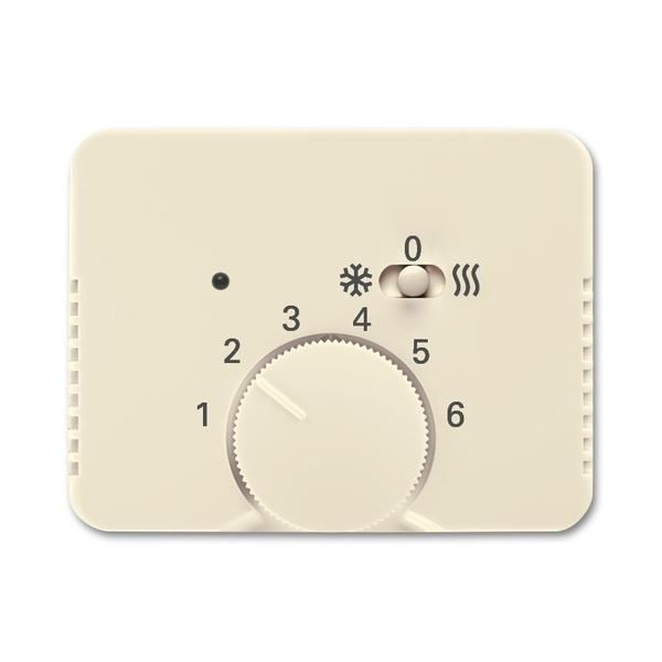 Kryt termostatu pre kúrenie/chladenie, Alpha exclusive®, slonová kosť