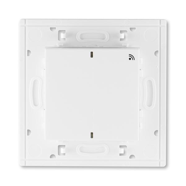Vysielač RF jednonásobný, nástenný, Levit®, biela / ľadová biela