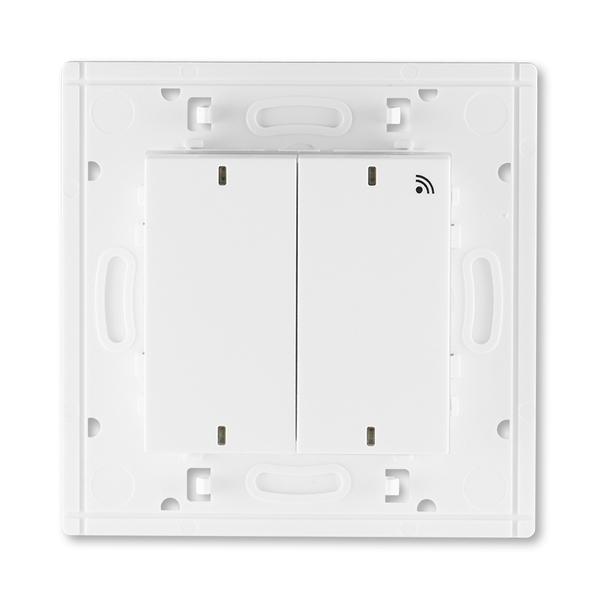Vysielač RF dvojnásobný, nástenný, Levit®, biela / ľadová biela