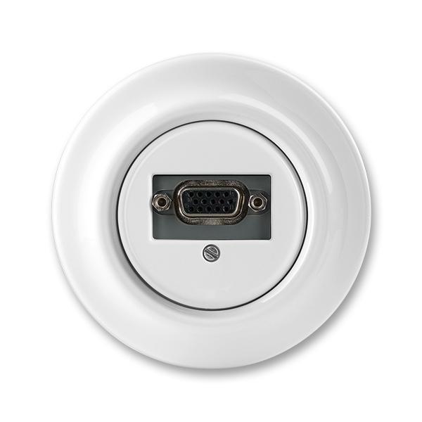 Zásuvka komunikačná VGA, Decento®, biela