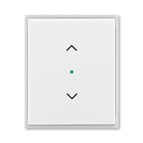 """Kryt 1 násobný, symbol """"žalúzie"""", Time®, Element®, biela / ľadová biela"""