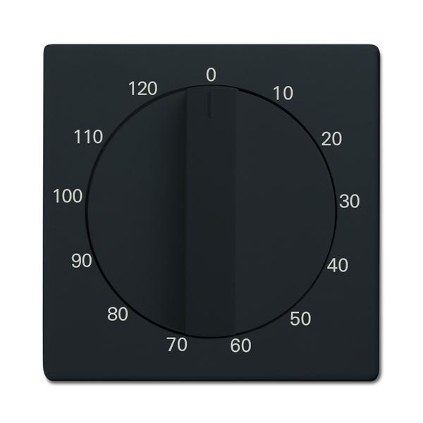 Kryt ovládača časového s otočným ovládačom, Future® linear, Solo®, Solo® carat, antracitová